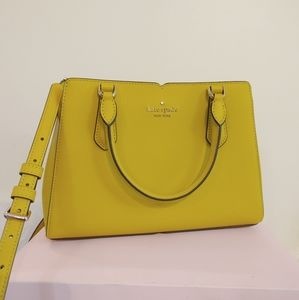 New Kate Spade Tippy Satchel Chartreuse Yellow